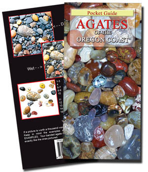 Click to enlarge image of the pocket guide - AGATES OF THE OREGON COAST by Myers and Petrovic  - ISBN13: 9781605857749 - Now Available- April 2008!